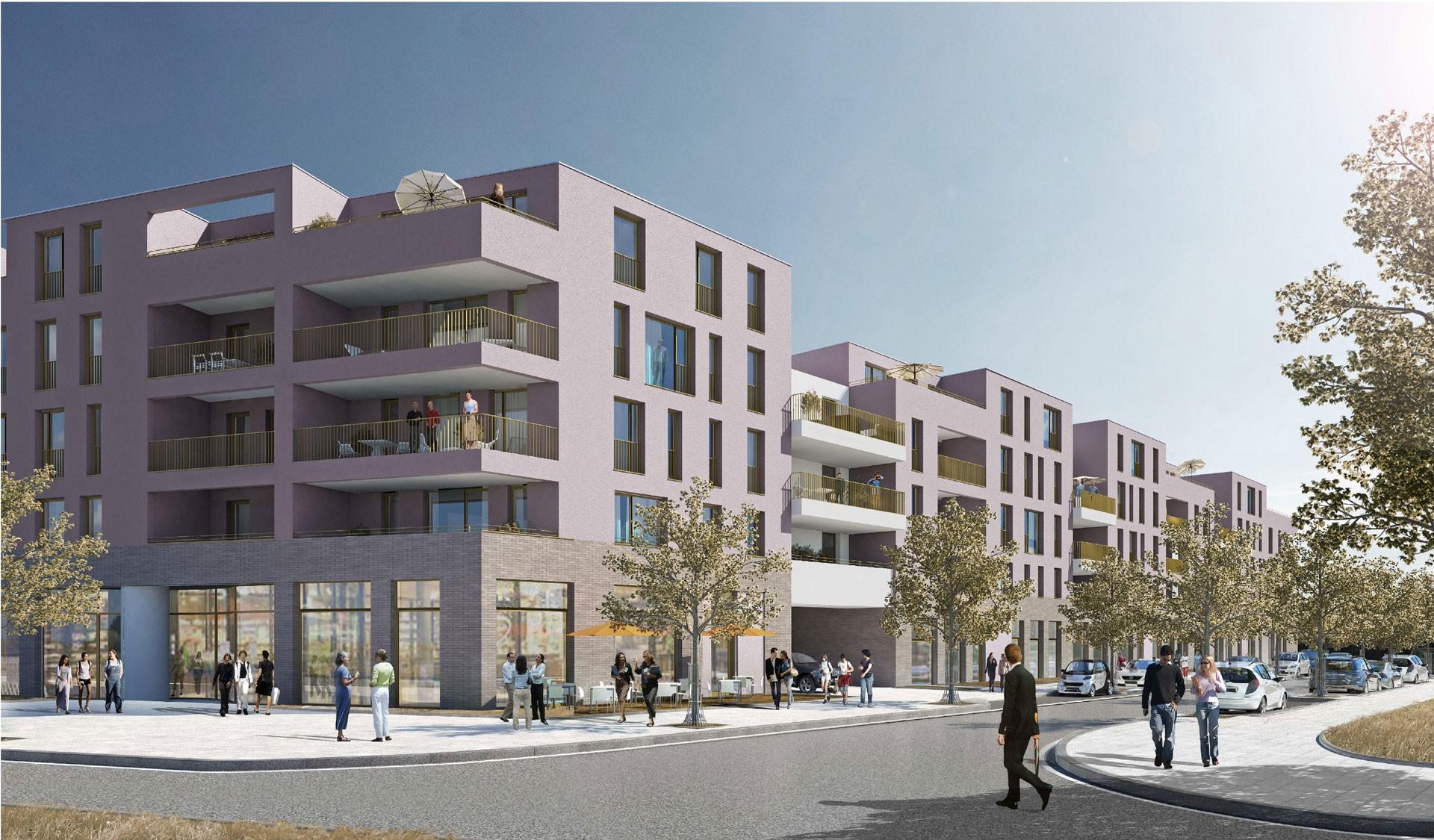 Drei Eins – Architektur- und Stadtplanungsbüro in Frankfurt // Wohn- und Geschäftshaus Riedbergallee, Ffm