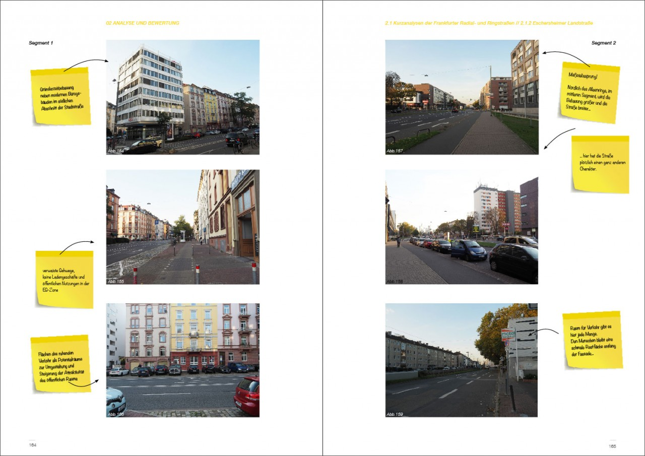 Drei Eins – Architektur- und Stadtplanungsbüro in Frankfurt Stadtachsen (re)urbanisieren und Grün neu vernetzen -Zukunftsperspektiven Frankfurter Radial- und Ringstraßen