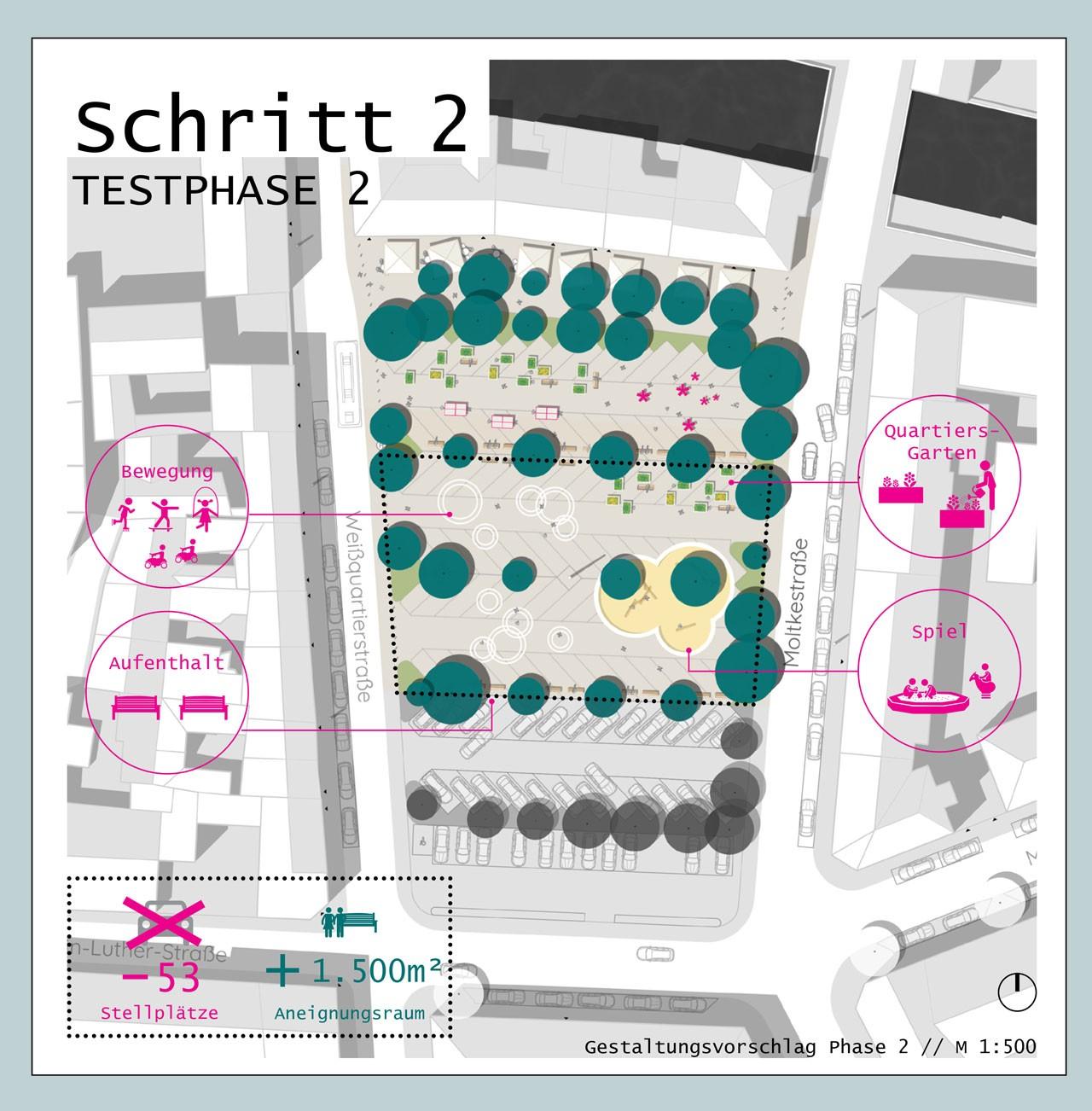 Drei Eins – Architektur- und Stadtplanungsbüro in Frankfurt // Neugestaltung Weißquartierplatz Landau