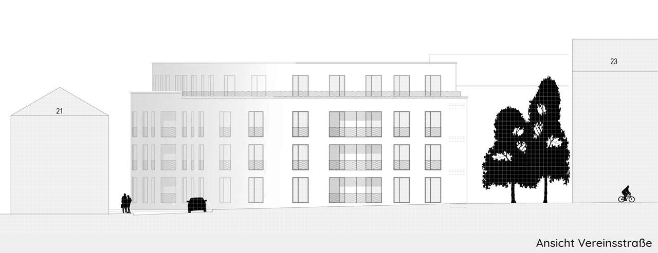 Drei Eins – Architektur- und Stadtplanungsbüro in Frankfurt // Wohngebäude Preungesheimer Straße, Ffm
